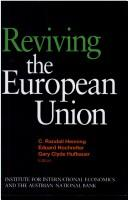 Cover of: Reviving the European Union
