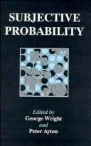 Cover of: Subjective probability |