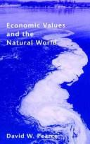 Cover of: Economic values and the natural world