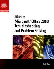 Cover of: A Guide to Microsoft Office 2000 | Kate J. Chase
