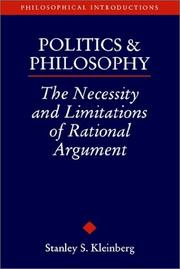 Cover of: Politics and Philosophy | Stanley S. Kleinberg