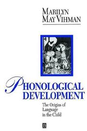 Cover of: Phonological development