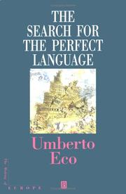 Cover of: The search for the perfect language