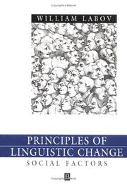 Cover of: Principles of Linguistic Change