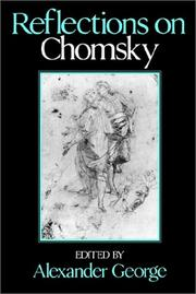 Cover of: Reflections on Chomsky |