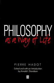 Cover of: Philosophy as a way of life