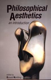 Cover of: Philosophical Aesthetics