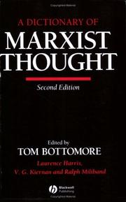 Cover of: A Dictionary of Marxist thought | edited by Tom Bottomore.