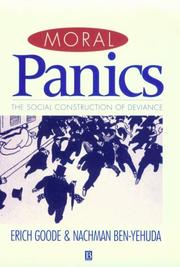 Cover of: Moral panics | Erich Goode