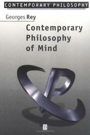 Cover of: Contemporary philosophy of mind