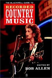 Cover of: The Blackwell guide to recorded country music |