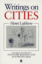 Cover of: Writings on cities