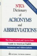Cover of: NTC's dictionary of acronyms and abbreviations