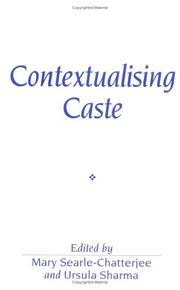 Cover of: Contextualising Caste | Mary Searle-Chatterjee