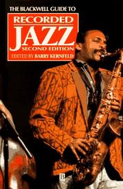 Cover of: Recorded Jazz | Barry D. Kernfeld