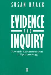 Cover of: Evidence and Inquiry
