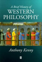Cover of: A brief history of western philosophy