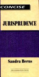Cover of: Concise jurisprudence | Sandra Berns