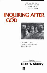 Cover of: Inquiring after God