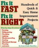 Cover of: Fix it fast, fix it right