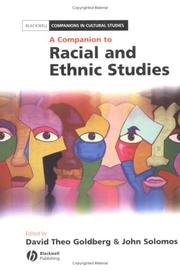 Cover of: A companion to racial and ethnic studies |