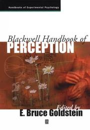 Cover of: Blackwell handbook of perception