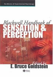 Cover of: Blackwell handbook of sensation and perception