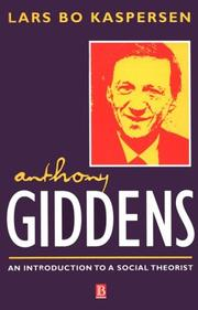 Cover of: Anthony Giddens