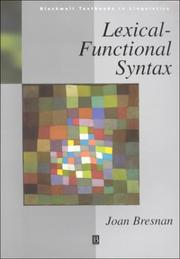 Lexical-functional syntax by Joan Bresnan