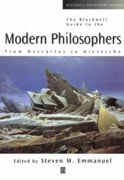 Cover of: Blackwell Guide to the Modern Philosophers
