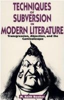 Cover of: Techniques of subversion in modern literature