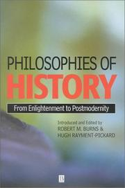 Cover of: Philosophies of History |