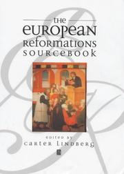 Cover of: The European Reformations Sourcebook