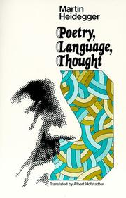 Cover of: Poetry, Language, Thought