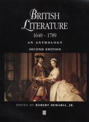 British Literature 1640 - 1789: An Anthology
