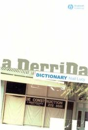 Cover of: A Derrida Dictionary