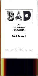 Cover of: BAD, or, The dumbing of America