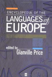 Cover of: An Encyclopedia of the Languages of Europe | Glanville Price