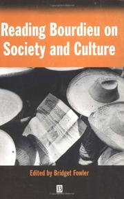 Cover of: Reading Bourdieu on Society and Culture