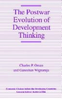The postwar evolution of development thinking by Charles Pennington Oman