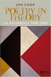 Cover of: Poetry in Theory | Jon Cook