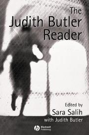 Cover of: The Judith Butler Reader