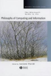 Cover of: Philosophy of Computing and Information