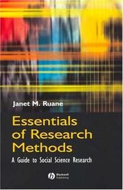 Cover of: Essentials of Research Methods