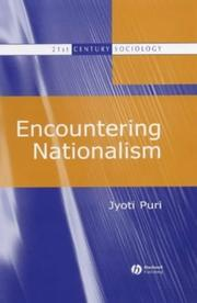 Cover of: Encountering Nationalism (21st Century Sociology)