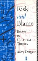 Cover of: Risk and blame