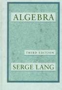 Cover of: Algebra