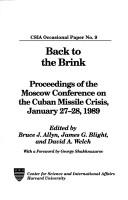 Cover of: Back to the brink | Moscow Conference on the Cuban Missile Crisis (1989)