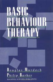 Cover of: Basic Behavior Therapy | Douglas Murdoch