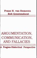 Cover of: Argumentation, communication, and fallacies